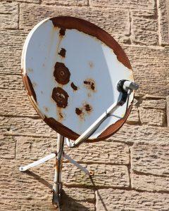 rust affected satellite dish